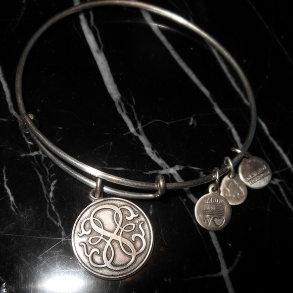 Authentic Alex and Ani Endless Knot Rafaelian Silver Charm Bangle iii